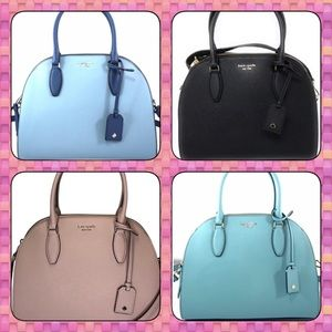 Kate Spade ♠️ Mixed Material Large Reiley Satchel
